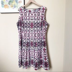 Danny & Nicole Pleated Fit and Flare Dress Sz 2X